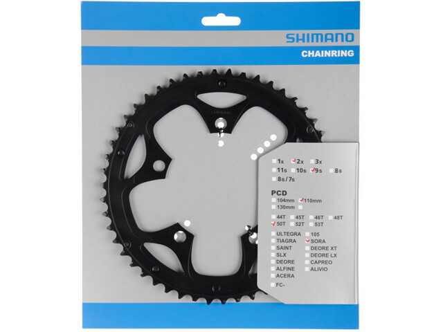 Shimano Sora FC-3550 Chainring 9-speed for KSR, black